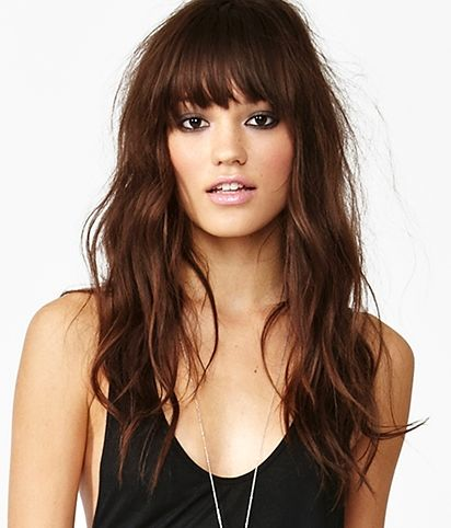 "I love everything about this hair style...clearly I need the ""bed messy head"" product to wear it like this. The bangs are even good looking with this"