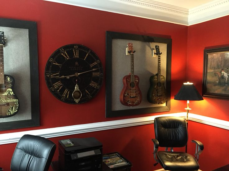 gretsch americana guitars and custom frame materials barn wood and rustic brown paint from lowes upholstery fabric from hobby lobby