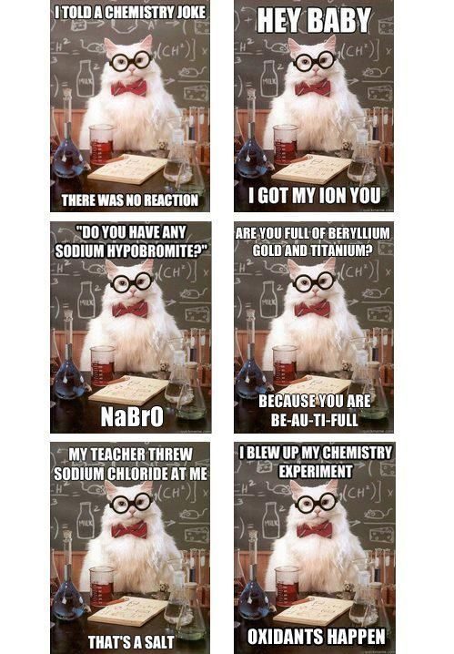 Chemistry puns crack me up.