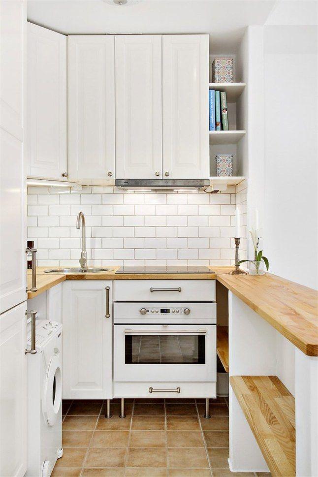 Cocina pequeña con barra 1