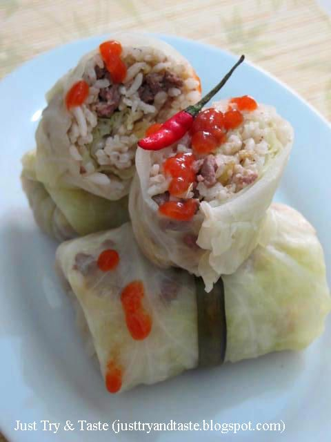 Kubis Gulung Isi Tumis Nasi & Daging Sapi | Just Try & Taste