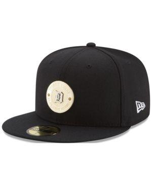 New Era Detroit Tigers Inner Gold Circle 59FIFTY Cap - Black 7 1/8