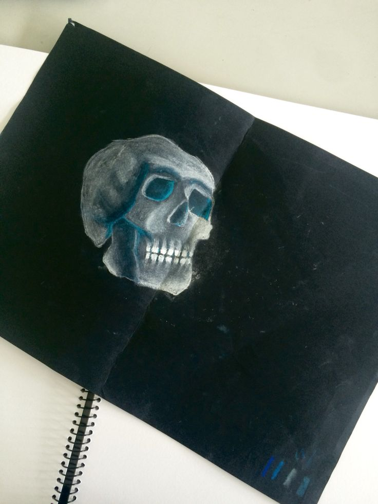 Incomplete skull - chalk
