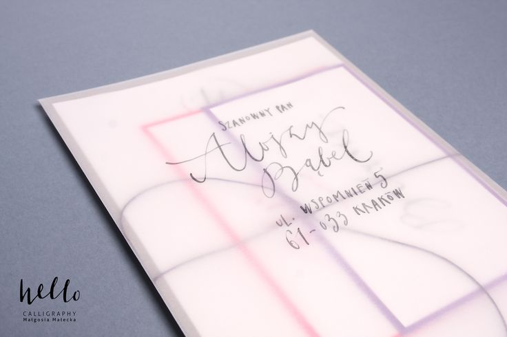 colorfull frozen envelope by HELLO calligraphy .Małgosia Małecka.