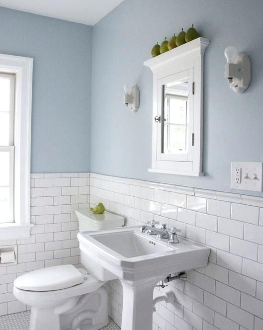 Blaue Und Weisse Badezimmer Ideen Badezimmer Mit Weissen Fliesen