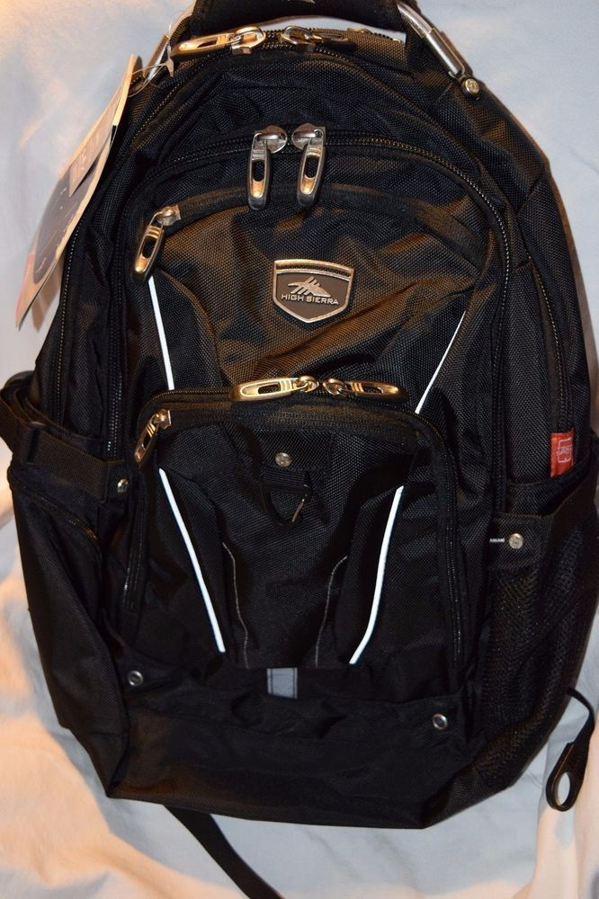 High Sierra Elite Backpack Black Business Pack for 17 inch Laptop and Tablet  #HighSierra #Backpack