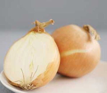 An onion cut in half on a white plate will deodorize your dark musty basement.