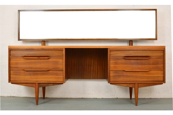 Mid Century Rosewood Dressing Table By White And Newton | Vinterior London  #retro #design