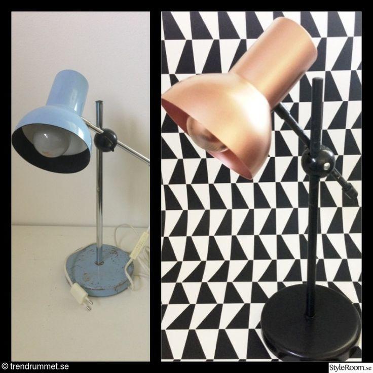 koppar,före och efter,diy,diy lampa,kopparspray