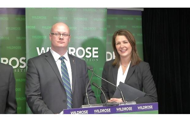 Wildrose Leader Danielle Smith (right) and Wildrose Municipal Affairs critic Jeff Wilson explain details of the 10/10 municipal funding plan #ableg #wrp #Alberta