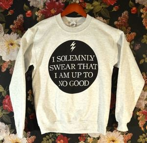 Image of 'I Solemnly Swear That I Am Up To No Good' Sweater $29.99 www.wickedclothes.com