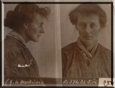 Prison photograph of Countess Markievicz in Aylesbury 1917  Lissadell Collection