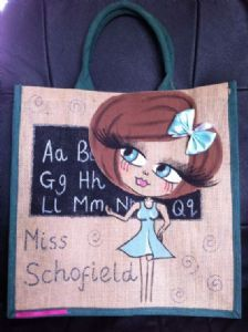 TEACHER PERSONALISED JUTE BAG - LARGE
