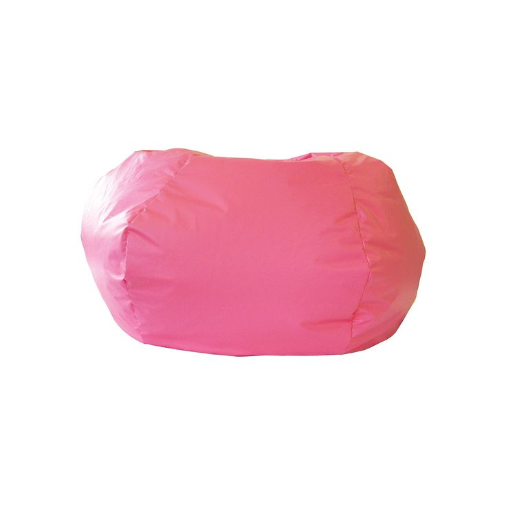 Extra Large Faux-Leather Bean Bag Chair, Pink