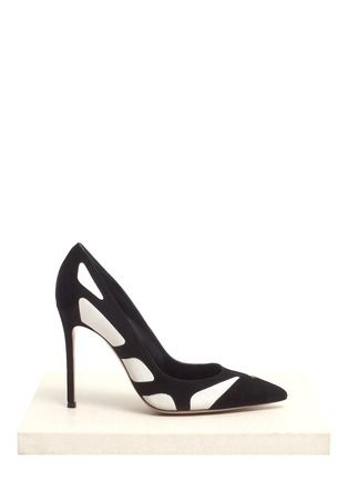 GIANVITO ROSSI - Suede-and-leather pumps | Multi-colour Pump High Heels | Womenswear | Lane Crawford