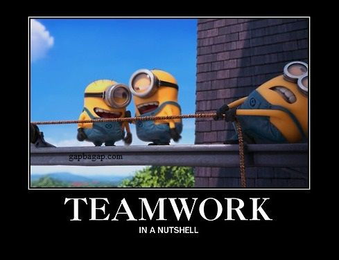 Funny #Minions #Memes About Teamwork