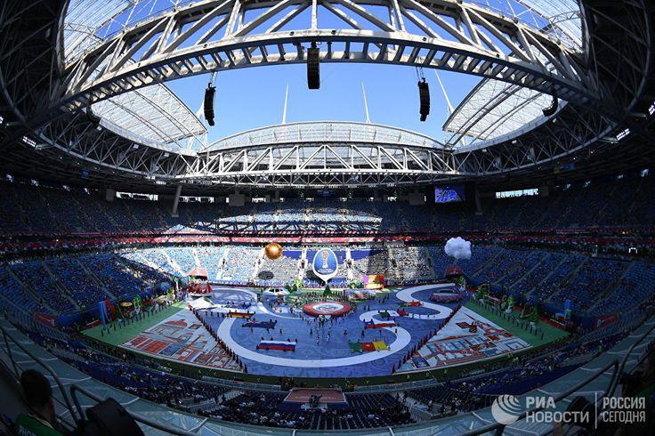 Церемония открытия Кубка конфедераций-2017 в Санкт-Петербурге