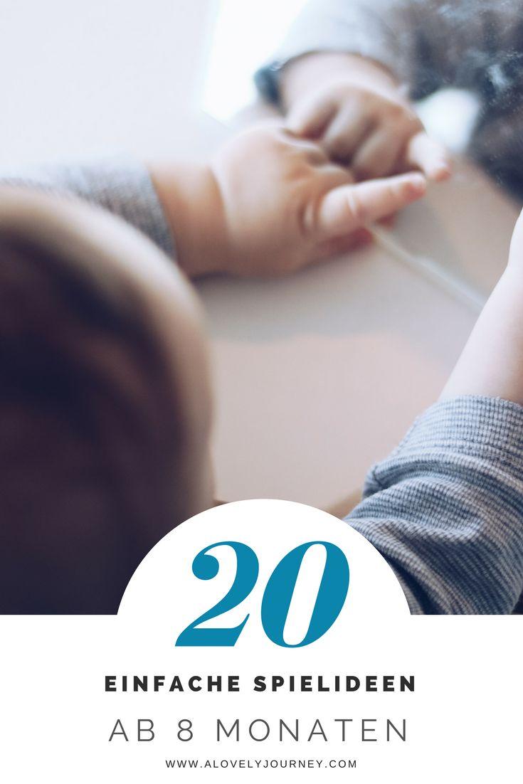 Spiele für Babys - 8 Monate - Montessori Aktivitäten für Babys