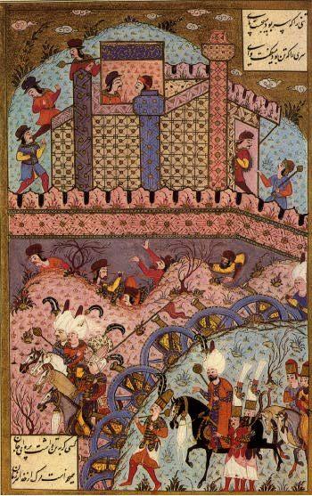 Siege of Estolnibelgrad in Hungary-Matrakci Nasuh-Suleymanname
