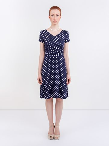 Dámské puntíkované šaty Dotty Dámské oděvy