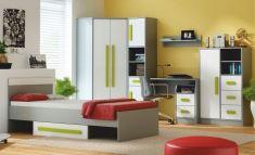 Studentský nábytek, dětský pokoj PIERE zelená