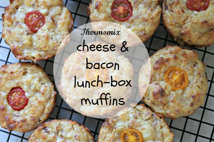 Thermomix cheese and bacon lunch-box muffins