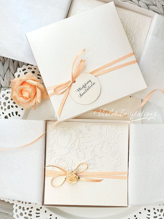 146 best Peaches and Cream WeddingTouched by Time Vintage Rentals - formal handmade invitation cards