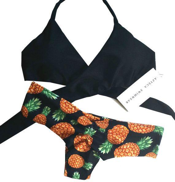 Piña Wrap Bikini Set par AZTECASWIMWEAR sur Etsy