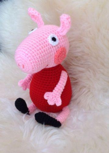 Peppa Wutz Peppa Pig Spielzeug Kuscheltiere Häkeltier Amigurumi in Spielzeug, Film & Fernsehen, Sonstige   eBay