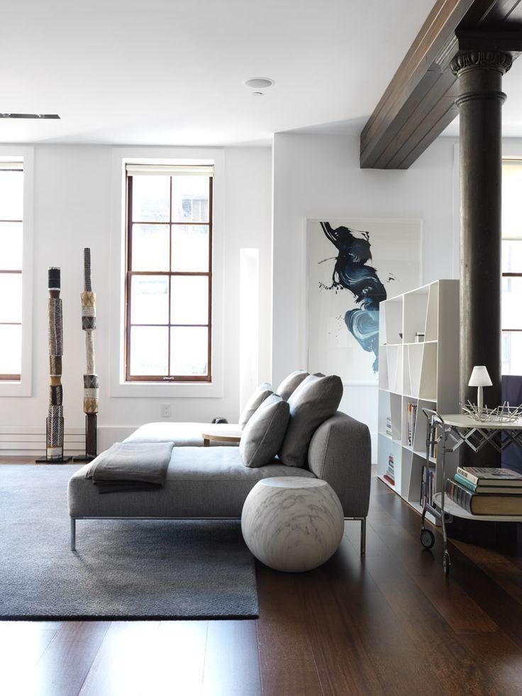 Nexus | Tribeca Loft Apartment | Est Magazine featuring the B&B Italia Shelf X by Naoto Fukasawa