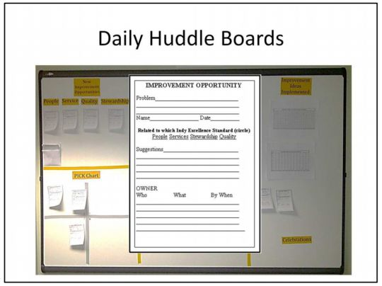 Huddles2 540x404 Kaizen & Idea Boards Spotted At Society For Health Systems Conference Lean