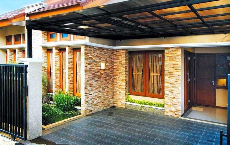 Model Teras Rumah Minimalis Dengan Batu Alam