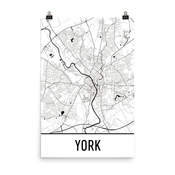 York England Map, Art, Print, Poster, Wall Art From $29.99 - ModernMapArt