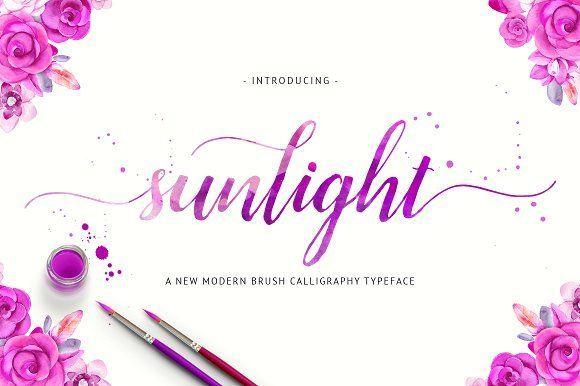 Sunlight Script (40% Off) by Unicode on @creativemarket