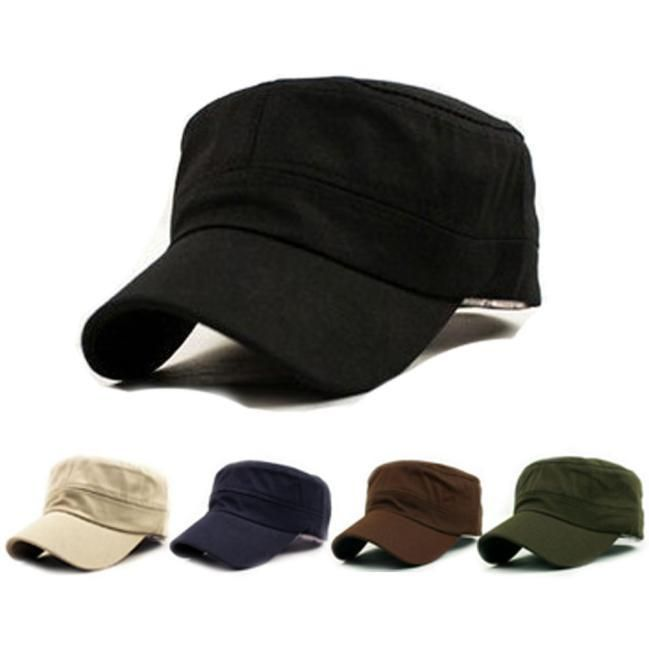 9bba29e92e348 $3.45 AUD - Classic Plain Vintage Army Military Cadet Style Cotton ...