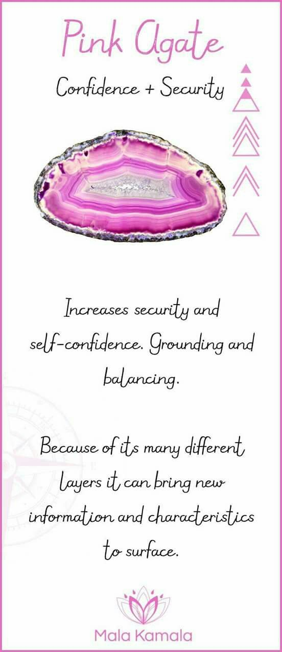Pink Agate - confidence & security