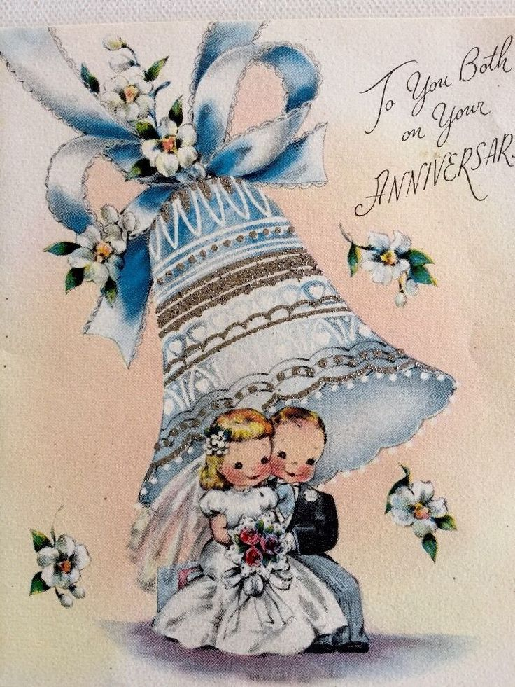 """vintage 1940's greeting card """"to you both on your"""