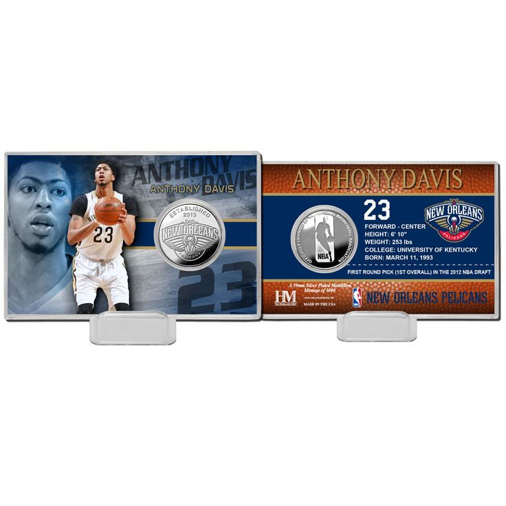 Anthony Davis New Orleans Pelicans Highland Mint Player Coin Card - $19.99