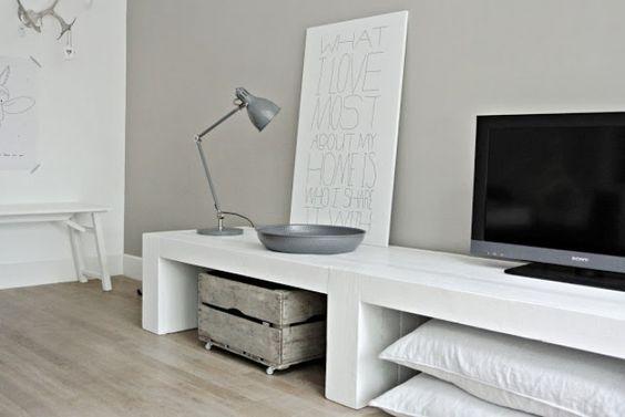 Tv meubel steigerhout 47 cm hoog: