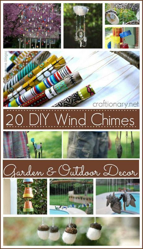 DIY wind chime ideas for garden and outdoor decor #windchimes #garden