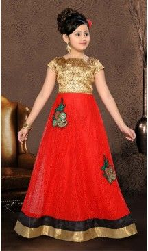 Girl's Net Fabric Gowns Dresses