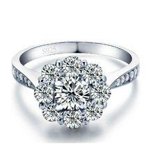 Moda Anéis de Prata Para As Mulheres CZ Diamante Jóias Branco Banhado A Ouro de Noivado Casamento amor Bijoux bague Anel Feminino Do Vintage 158(China (Mainland))
