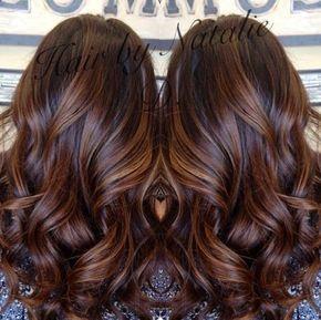 long brown hair with caramel balayage- my dark brown hair looks amazing with caramel highlights!