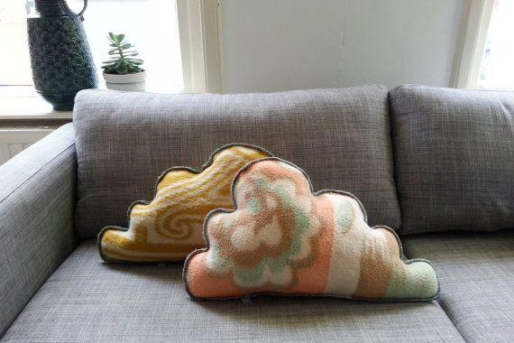 kussens van vintage wollen deken
