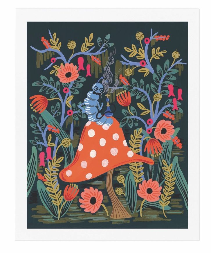 Rifle Paper Co. Absolem the Caterpillar art prints designed by Anna Bond at Northlight in April 2016