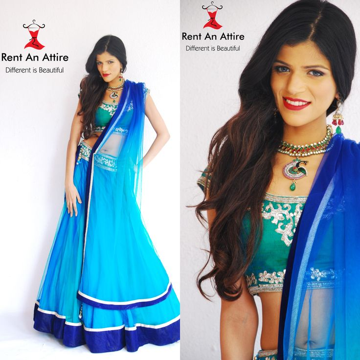 Add an alluring look to your personality.Designer Peacock blue net lehenga choli is perfect for evening party requirement.