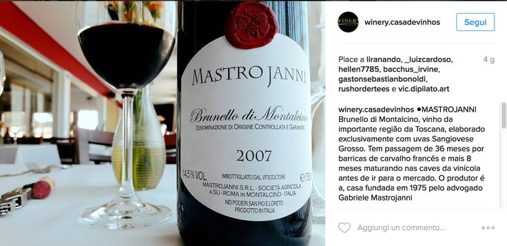 Brunello di Montalcino Instagram Wine Lover