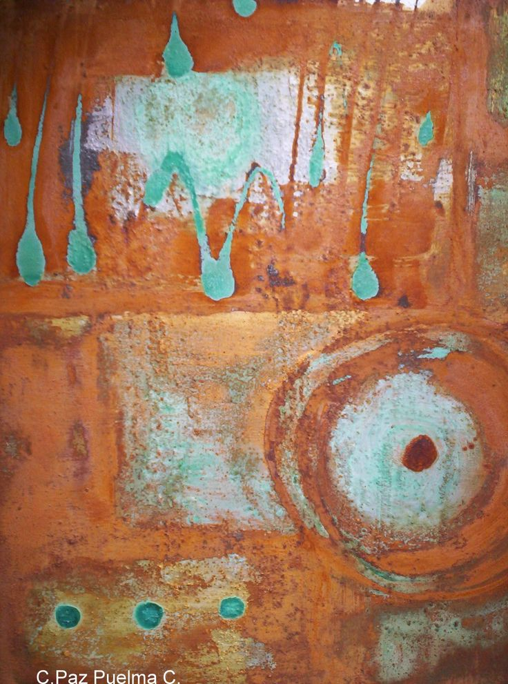 abstracto, acrilico y oxidos