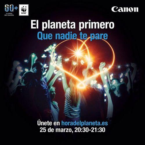 Únete ahora al mayor movimiento en defensa de la Naturaleza #HoraDelPlaneta. El Planeta primero. Que nadie te pare. Súmate a la Hora del Planeta asiste a los eventos que @wwfspain ha organizado en los diferentes lugares de España y por supuesto apaga la luz el próximo 25 de marzo de 20:30 a 21:30. http://bit.ly/2mrPvtA via Canon on Instagram - #photographer #photography #photo #instapic #instagram #photofreak #photolover #nikon #canon #leica #hasselblad #polaroid #shutterbug #camera #dslr…