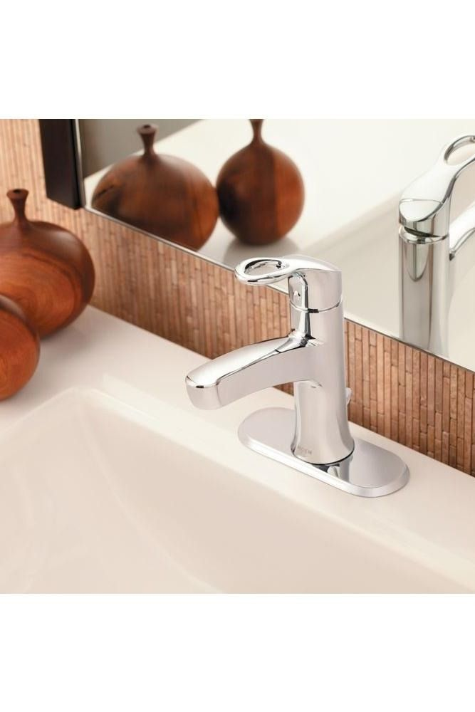 Add an element of distinction to your bathroom with this MOEN Kleo Single  Hole Single Handle Mid Arc Bathroom Faucet in Chrome. 17 Best images about Bathroom Design Ideas on Pinterest   Toilets